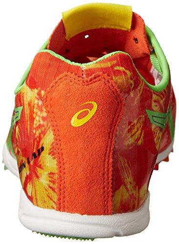 ASICS Herren Gunlap Leichtathletikschuh Rot Blumen / Flash Grün