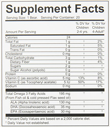 Vitamin Friends Yomega Fish Oil Dietary Supplement, 20 Count