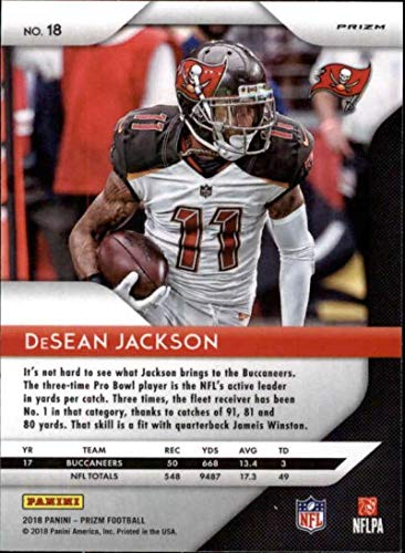 Amazon.com  2018 Panini Prizm Prizm Green  18 DeSean Jackson Tampa Bay  Buccaneers NFL Football Trading Card  Collectibles   Fine Art 20baa4b66