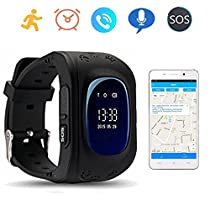 Q50 GPS Kids Watches Baby Smart Watch for Children SOS Call Location Finder Locator Tracker Anti Lost Monitor Smartwatch (SIM Card not Include) (Blue) byTKSTAR