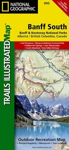 Banff South [Banff and Kootenay National Parks] (National Geographic Trails Illustrated Map) (Road Map Of Canada compare prices)
