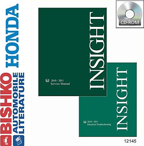 bishko automotive literature 2010 2011 Honda Insight Shop Service Repair Manual CD w/ETM Engine Electrical