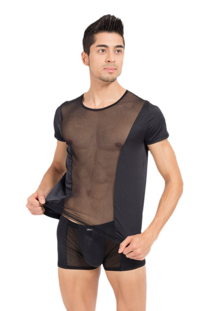 Look Me - T-Shirt Bold - Farbe: schwarz - Größe: M, 1 Stück 1 Stück LM44-81BLK-M