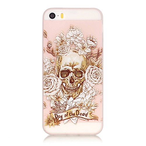 wwwer-iphone-se-case-iphone-5-case-iphone-5s-case-clear-slim-case-with-a-free-gift-skull