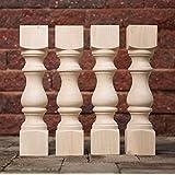 "Carolina Leg Co. Maple Monastery Bench Legs - Set of 4-3.5"" x 3.5"" x 16"" - Unfinished - Coffee Table Legs"