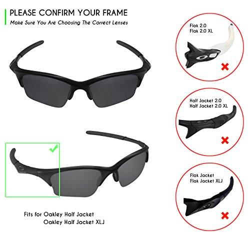 83d74e9821809 Mryok Polarized Replacement Lenses for Oakley Half Jacket XLJ - Grey  Photochromic