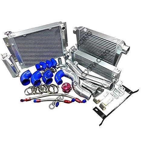Intercooler de tuberías de radiador enfriador de aceite kit para RX7 sa Fb 13B RX-7 Turbo azul mangueras: Amazon.es: Coche y moto