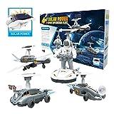 Goodayeah Solar Robot Kit, Solar Power Robots, 4 in1 Robotic Set, Space Fleet Science Educational Toy, DIY Robots for Kids