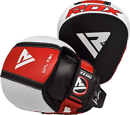 RDX Boxing Pads Gel Focus Mitts Leather MMA Muay Thai Hook and Jab Curved Kickboxing Training Strike Target Hand Pads Martial Arts Punching Shield – DiZiSports Store