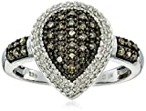 Sterling Silver White and Brown Diamond Ring (1/3cttw, J-K Color, I2-I3 Clarity), Size7