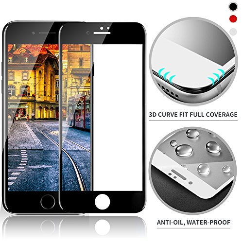 3D Diamond Tempered Glass Screen Protector iPhone 7 (Black) - 9
