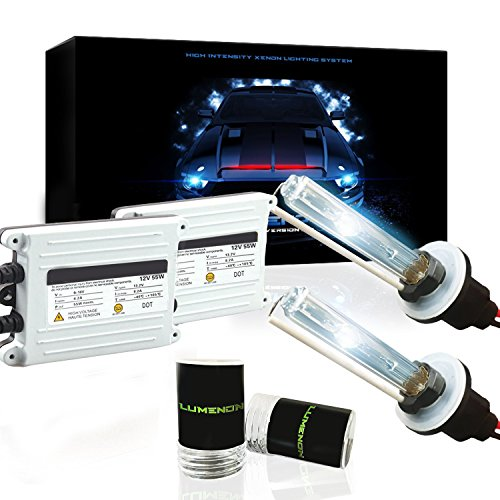 Lumenon 55W HID Xenon Conversion Kit with Premium Slim Ballast 2 Year Warranty (9007 HB5, 5000k Pure White) (Kits Ballast Mercury)