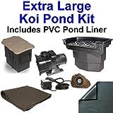 20' x 30' Extra Large PVC Pond Kit, Atlantic Water Gardens BF2600 Filtering Waterfall & PS1311 Skimmer, 5,200 GPH Pump - PVC2030