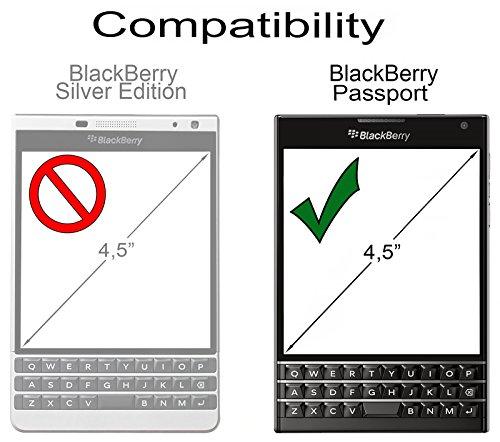 StilGut Book Type, Genuine Leather Case for BlackBerry Passport, Brown & Black Nappa by StilGut (Image #6)