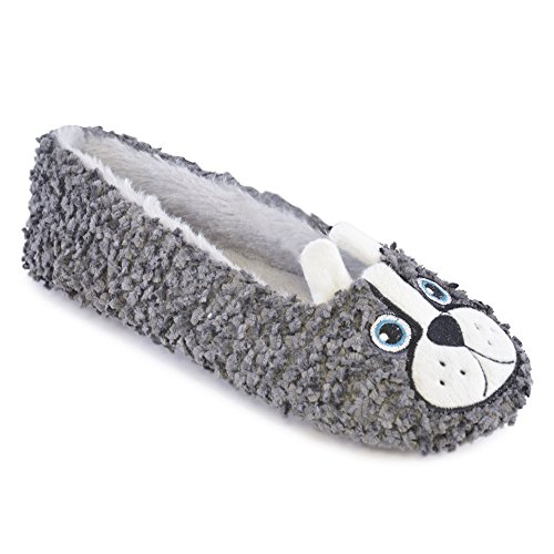 Grey Chaussons It Bulldog Fille Style Femme Up f8xgFwX