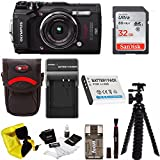 Olympus TG-5 Waterproof Digital Camera Black w/ 32GB SD Card, Spare Battery, Charger, Case, & More