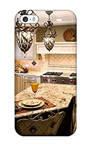 Durable Defender Case For Iphone 5/5s Tpu Cover(neutral Traditional Kitchen With Bar-top Seating)