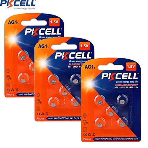 AG1 LR621 LR60 SR621 SR621SW 164 364A 364 Alkaline Button Cell Battery 15Pcs