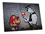 Pingo World BSY1130 Banksy Super Mario Bros Canvas Wall Art,Variable