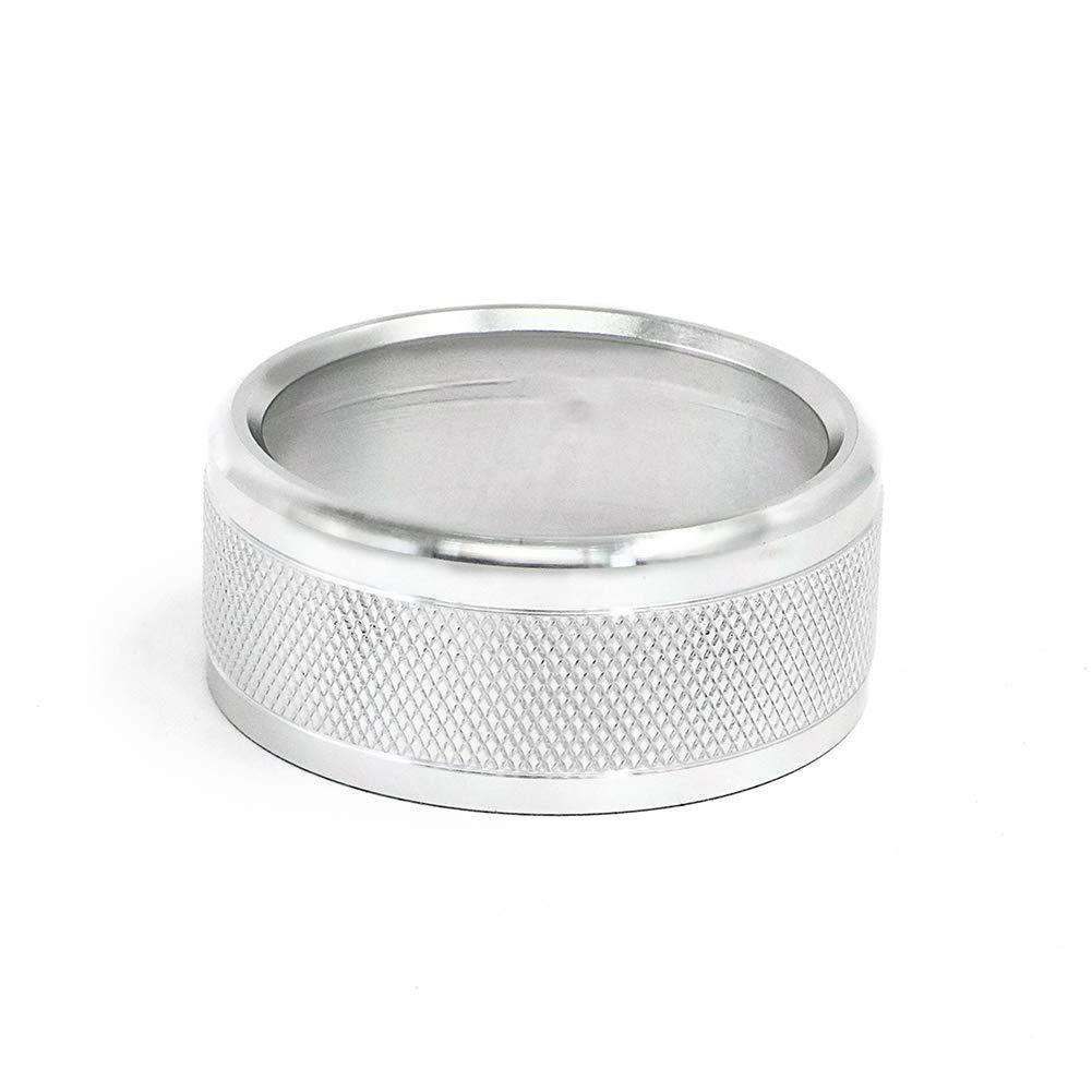 Cosmoska 1pcs AC Climate Control Knob Ring Cover Trim For Subaru WRX STI Impreza Forester XV Crosstrek Air Condition Button Covers,Anodized Aluminum