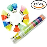 DrafTor Colorful Badminton Shuttlecocks, Plastic Shuttlecocks Suitable for Kids or Adult Indoor and Outdoor Sports - Random Color(6Pcs)