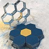 great small concrete patio design ideas Paver Concrete Mold,Keebgyy Hexagonal Shape Stepping Stone Concrete Paver Mold Garden Patio Driveway Pathmate Pavement Mold