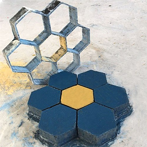 Cheap  Paver Concrete Mold,Keebgyy Hexagonal Shape Stepping Stone Concrete Paver Mold Garden Patio..