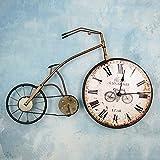 TIANTA- Three-dimensional Cartoon Bike Iron Retro Wall Clock Hanging decoration