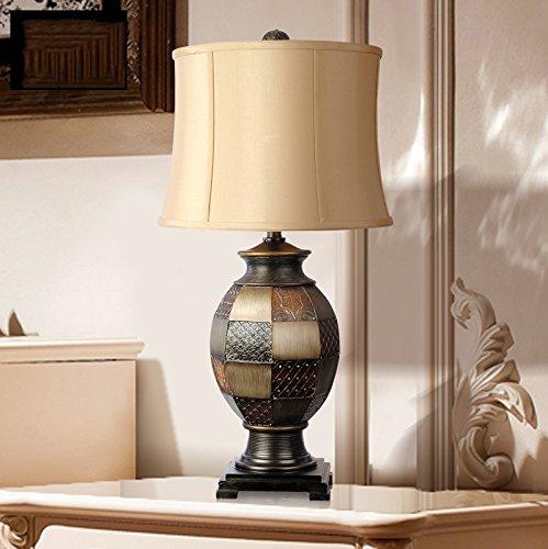 Light Arts Retro LED Luxuxwohnzimmer Große Schlafzimmer Nachttischlampen Harz dekorative Leuchten