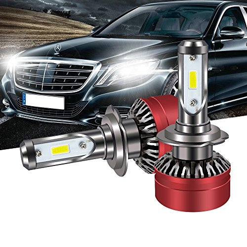 TURBOSII H7 LED Headlight Bulb DOT Approved All-in-One Conversion Kit 6000LM Led Fog Lights Replace HID Xenon Halogen Bulbs for Sonata Veloster Hyundai Santa Subaru VW Jetta SE GLI CC (05 Vw Volkswagen Passat Headlight)