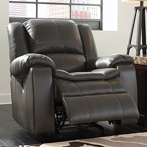 Signature Design by Ashley 8890698 Long Knight Collection Power Recliner, Gray