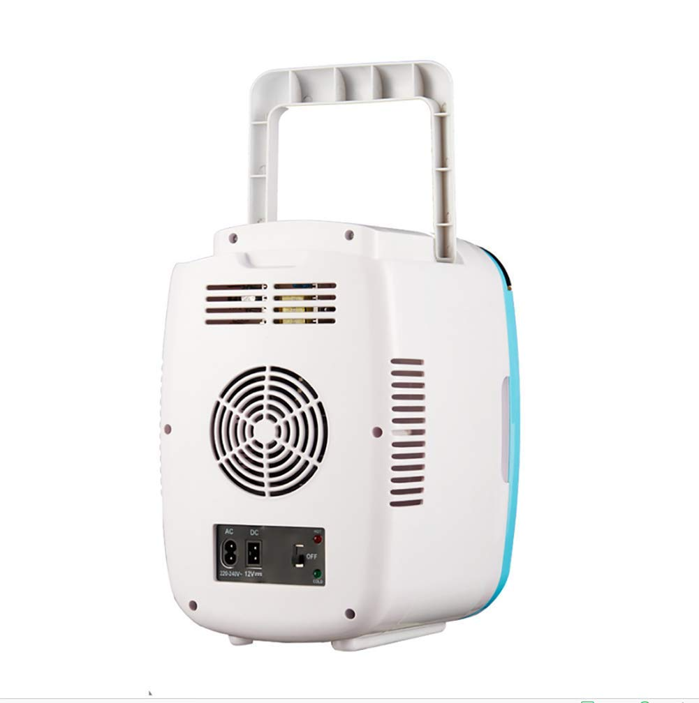 WFDLIU Refrigerador para Autos de 6 litros, Mini Calefactor y refrigerador Refrigerador para Autos silencioso y silencioso, Compacto y portátil para el ...