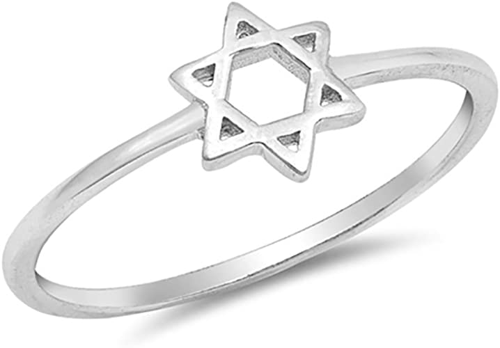 STAR OF DAVID RING sterling silver stackable ring Judaica