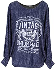 Emma & Giovanni - Trui/sweatshirt vintage loose fit (Made in Italy) - dames