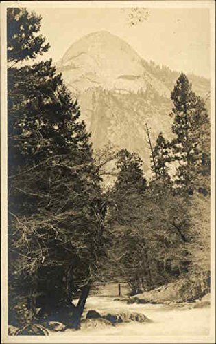 View of Mountain - Sierra Nevada Yosemite Landscapes Original Vintage Postcard from CardCow Vintage Postcards