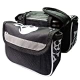 Bicycle Tube Bag Bike Frame Case Top Front Both Sides Cell Phone Pouch(Color Random)