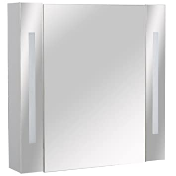 ODYSSEY - Mirror Bathroom Cabinet / Shaver Socket / 2 Lights ...
