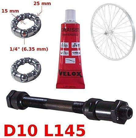 9mm Rad Cycling Fahrrad Bike MTB Hinterradnabe Achse Reparatur Ersatzteil Neu