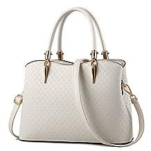 Hynbase Women's Fashion Crocodile Brand Handbag Faux Leather Shoulder Bags