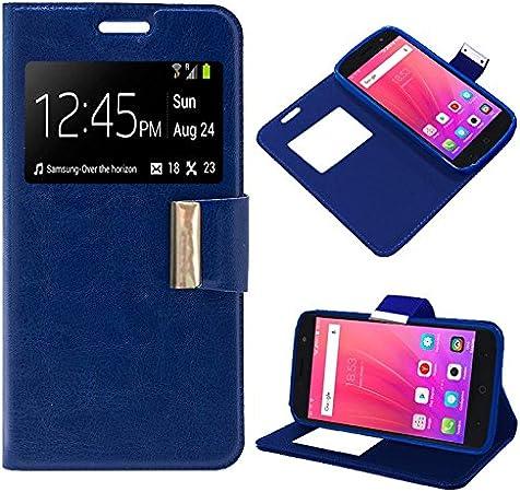 iGlobalmarket Funda Flip Cover Tipo Libro con Tapa para ZTE Blade A520 Liso Azul: Amazon.es: Electrónica