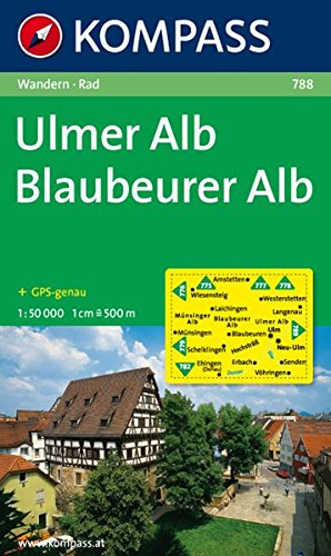 Ulmer Alb - Blaubeurer Alb: Wanderkarte mit Radrouten. GPS-genau. 1:50000 (KOMPASS-Wanderkarten, Band 788)