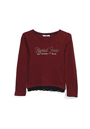 b59b52351953f Kaporal T-shirt Fille Manches Longues Diona Rouge