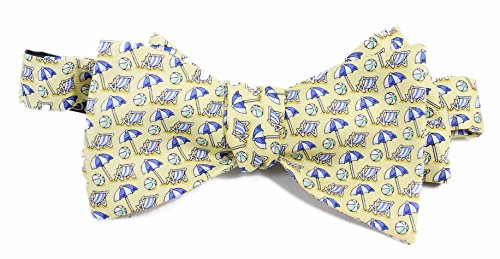 Vineyard Vines Mens Beach Umbrella Yellow Colorful Bow Tie Accessory
