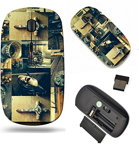 MSD Wireless Mouse Travel 2.4G Wireless Mice with USB Receiver, Noiseless and Silent Click with 1000 DPI for notebook, pc, laptop, computer, mac book design 25964195 Creative abstract conceptual colla