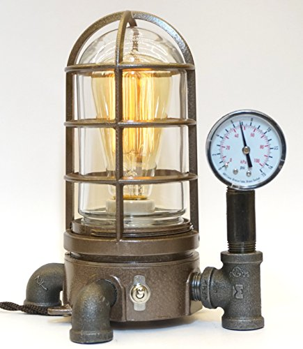 Industrial Explosion and Vapor Proof Desk Lamp Steampunk Light #42 by SteamLit