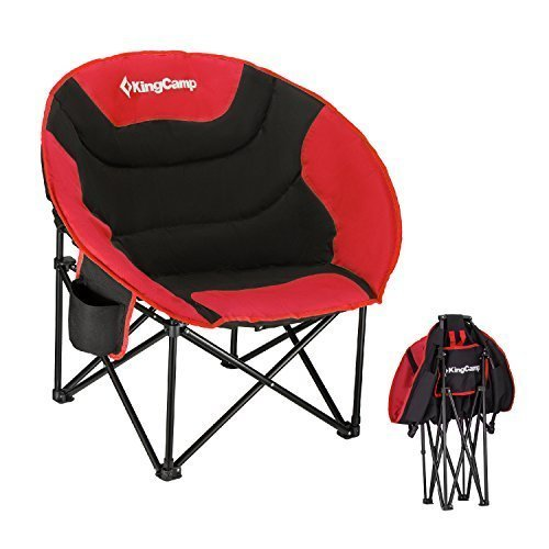 Cheap  KingCamp Moon Leisure Portable Stable Comfortable Folding Chair for Fishing Patio Parties..