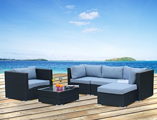 Hansson Sports Gartenmöbel, Polyrattan Lounge, schwarz, 87x87x70 cm ...