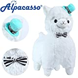 "KSB 20"" Giant Huge White Plush Alpaca With Tie And Hat,Cute Soft Stuffed Animals Cushion Toy Doll,Best Birthday Gifts For The Children Kids Over 1 Years"