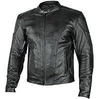 Xelement B7209 'Renegade' Men's Black Leather Motorcycle...