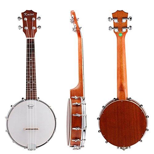 Kmise 4 String Banjo Ukulele Banjo lele Uke Concert 23 Inch Size Sapele Wood by Kmise
